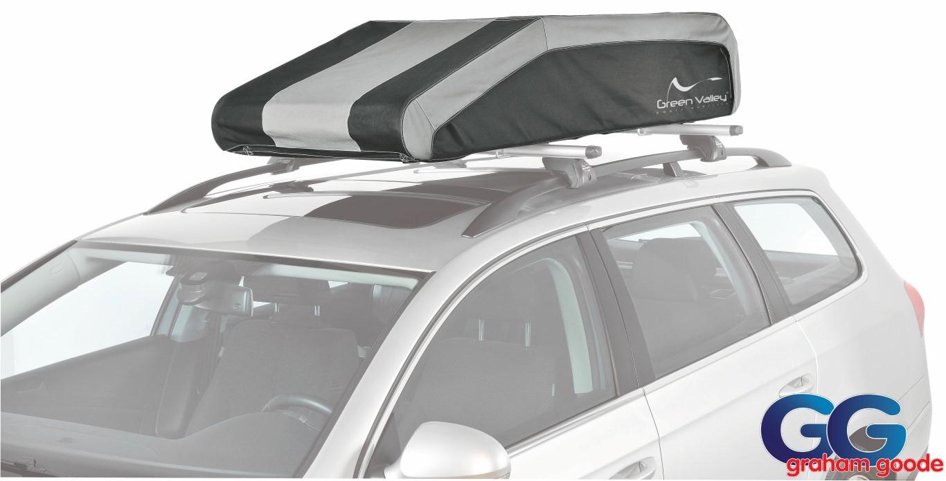 Car Top Box Soft Cargo Bag Foldable Rigid Base Waterproof
