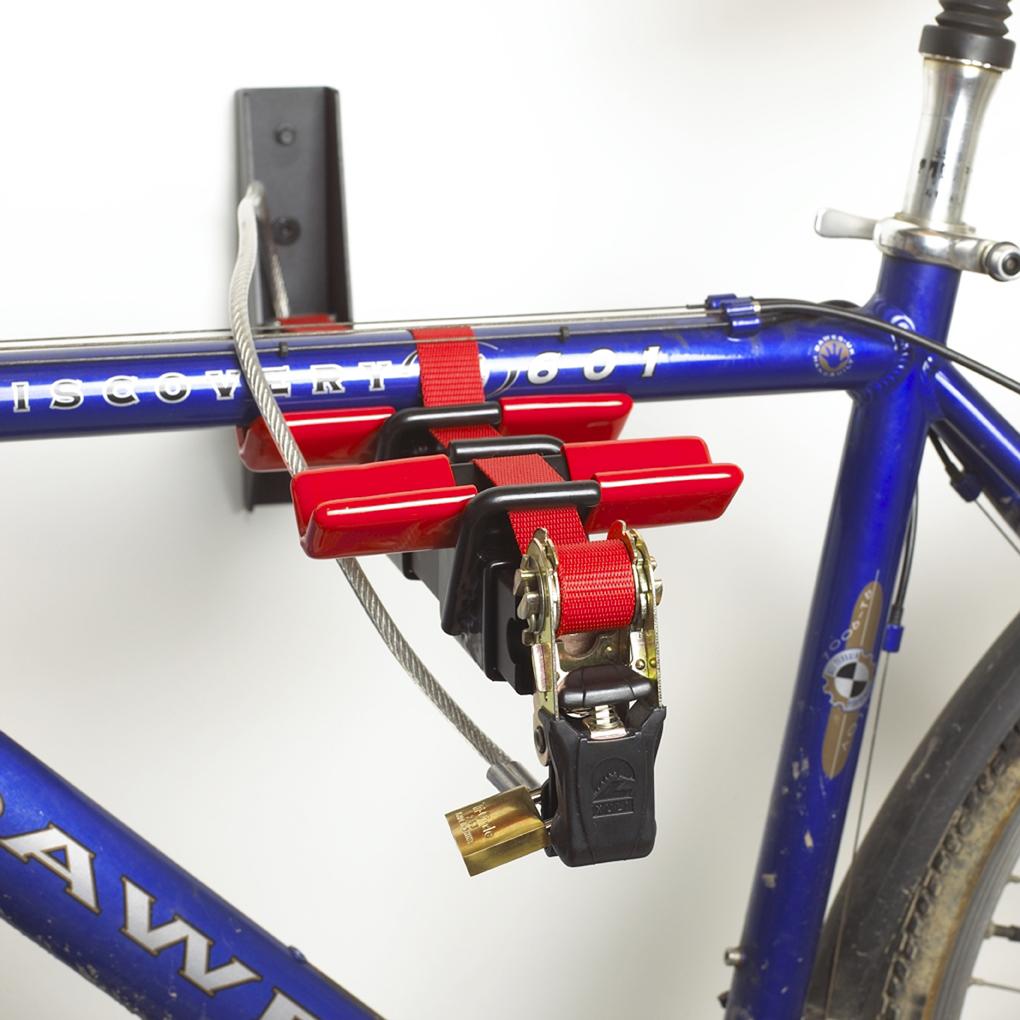 2 Bike Wall Mounted Cycle Rack Holder Storage Locking Ebay